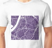 Antwerp Map - Dark Purple Unisex T-Shirt