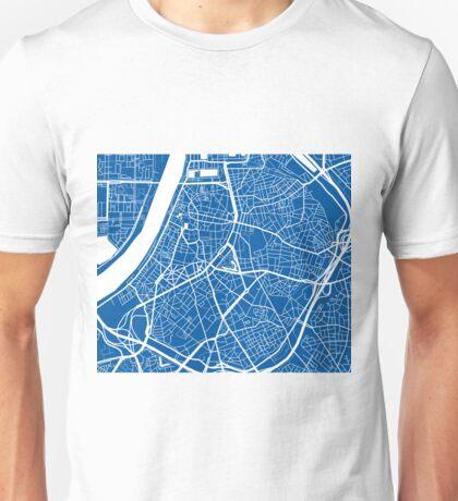 Antwerp Map - Deep Blue Unisex T-Shirt