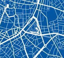 Antwerp Map - Deep Blue Sticker