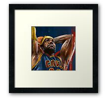 Lebron James Painting Framed Print