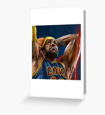 Lebron James Painting Greeting Card