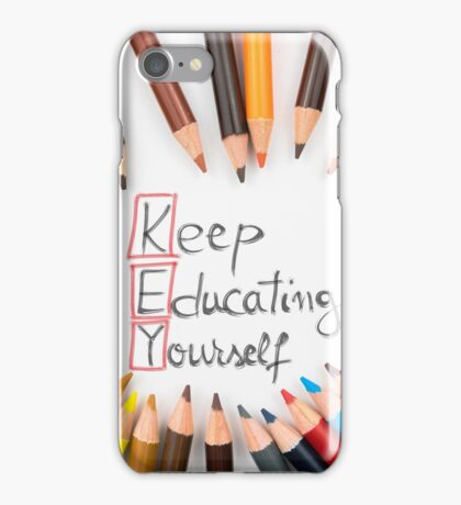 KEY Keep Educating Yourself iPhone Case/Skin