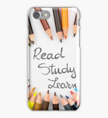 Read, Study, Learn iPhone Case/Skin