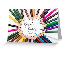 Read, Study, Learn Greeting Card
