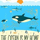The Ocean Is My Home by papabuju