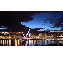 Derry - Peace Bridge Photographic Print