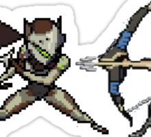 Genji Vs Hanzo 16 bit Sticker