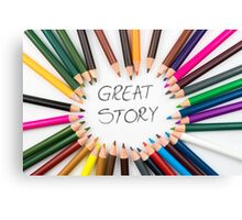 GREAT STORY Canvas Print