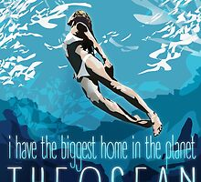 I Have The Biggest Home, The Ocean by papabuju