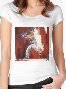 Mike Trout - Los Angeles Angels Women's Fitted Scoop T-Shirt