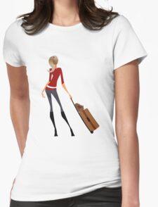 Traveler Girl Womens Fitted T-Shirt