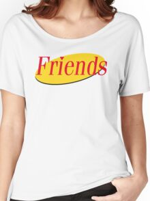 Friends / Seinfeld Mashup Logo - Joey Rachael Monica Chandler Phoebe Ross Women's Relaxed Fit T-Shirt