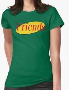 Friends / Seinfeld Mashup Logo - Joey Rachael Monica Chandler Phoebe Ross Womens Fitted T-Shirt