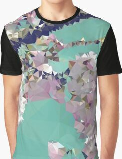 Meshed Up Japanese Sakura Blossoms Graphic T-Shirt