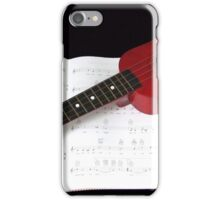 Little Red Ukulele and Vintage Songbook iPhone Case/Skin