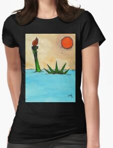 Liberty Submerged Womens Fitted T-Shirt