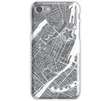 Copenhagen Map - Gray iPhone Case/Skin
