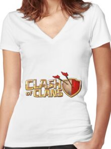 Clash Royale Women's Fitted V-Neck T-Shirt