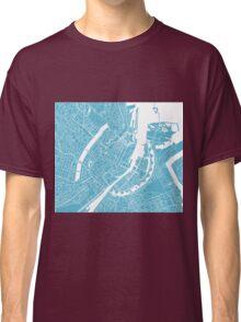 Copenhagen Map - Baby Blue Classic T-Shirt