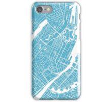 Copenhagen Map - Baby Blue iPhone Case/Skin