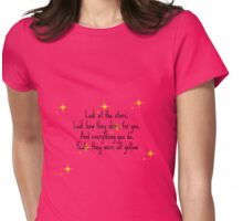 Coldplay art lyric Womens Fitted T-Shirt