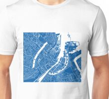Copenhagen Map - Deep Blue Unisex T-Shirt