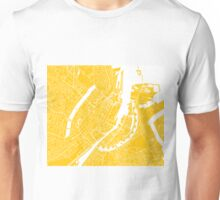 Copenhagen Map - Yellow Unisex T-Shirt
