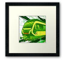 Green Subway Background Framed Print
