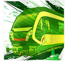 Green Subway Background Poster