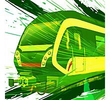 Green Subway Background Photographic Print