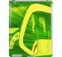 Green Subway Background iPad Case/Skin