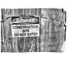 Construction Site. Poster