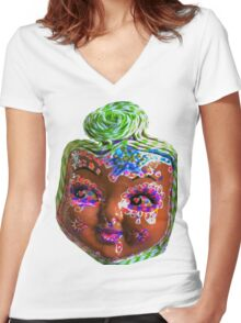 Hey Dollface Women's Fitted V-Neck T-Shirt