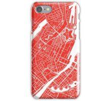 Copenhagen Map - Red iPhone Case/Skin