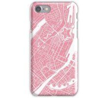 Copenhagen Map - Pink iPhone Case/Skin