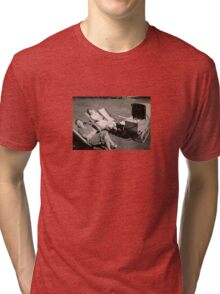 The relaxed attitude to parenting in the 1930s. Tri-blend T-Shirt