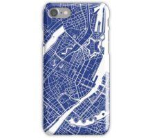 Copenhagen Map - French Blue iPhone Case/Skin