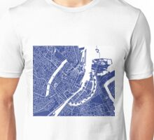 Copenhagen Map - French Blue Unisex T-Shirt
