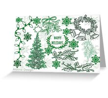 Christmas doodle Greeting Card