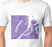 Copenhagen Map - Purple Unisex T-Shirt