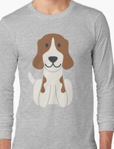 Beagle Illustration Long Sleeve T-Shirt