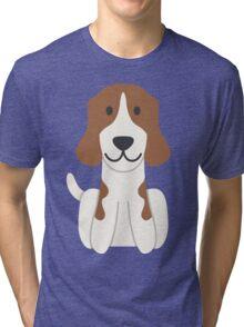 Beagle Illustration Tri-blend T-Shirt
