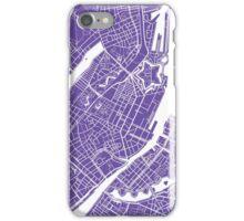 Copenhagen Map - Purple iPhone Case/Skin
