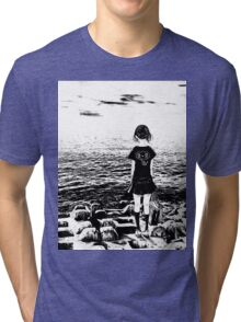 Girl by the Sea - By The Sea Tri-blend T-Shirt