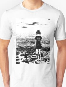 Girl by the Sea - By The Sea Unisex T-Shirt