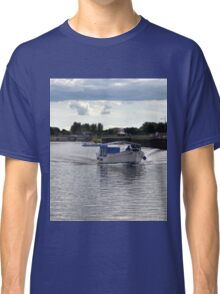 Blues Day at Exeter Canal, Devon uk Classic T-Shirt