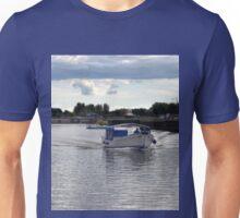 Blues Day at Exeter Canal, Devon uk Unisex T-Shirt