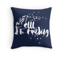 Shh Reading (White) Throw Pillow