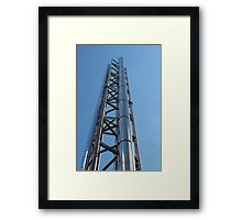 chimney with stainless steel Framed Print