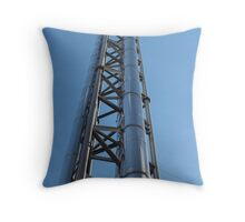 chimney with stainless steel Throw Pillow